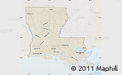 Free Shaded Relief Map Of Louisiana Lighten