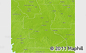 Physical 3D Map of Natchitoches Parish