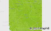 Physical Map of Natchitoches Parish