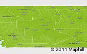 Physical Panoramic Map of Natchitoches Parish