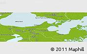Physical Panoramic Map of Orleans Parish