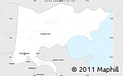 Silver Style Simple Map of Orleans Parish