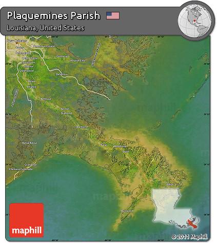Free Satellite Map Of Plaquemines Parish