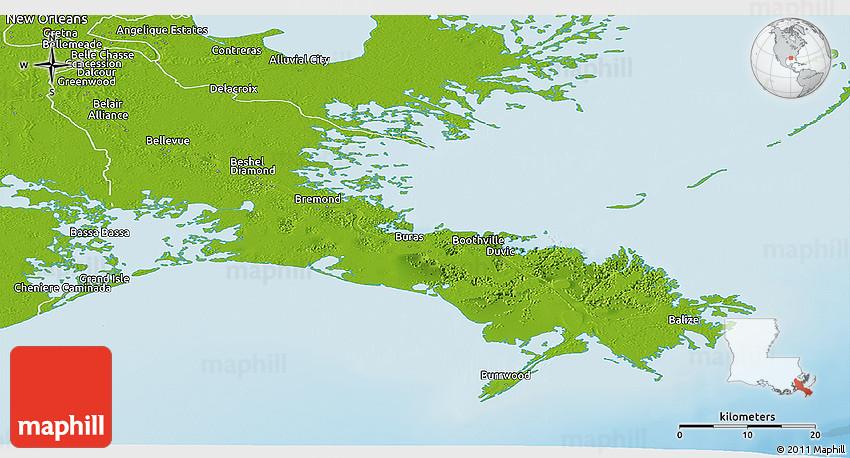 Geography of Plaquemines Parish, Louisiana