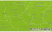 Physical 3D Map of West Baton Rouge Parish