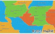 Political 3D Map of West Baton Rouge Parish