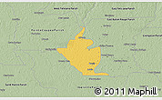 Savanna Style 3D Map of West Baton Rouge Parish