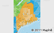 Political Shades Map of Maine