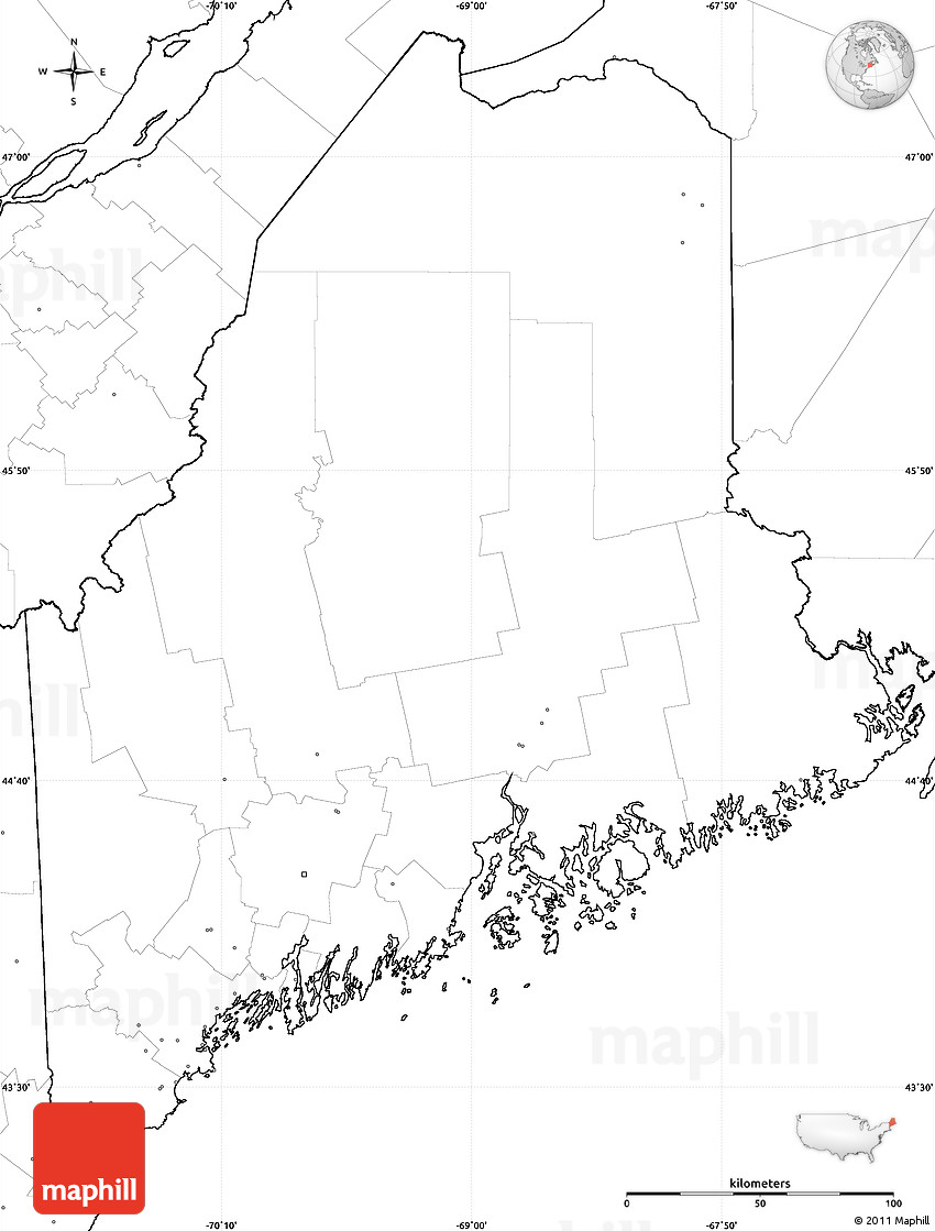 Blank Maine Map Swimnovacom - Us map without labels