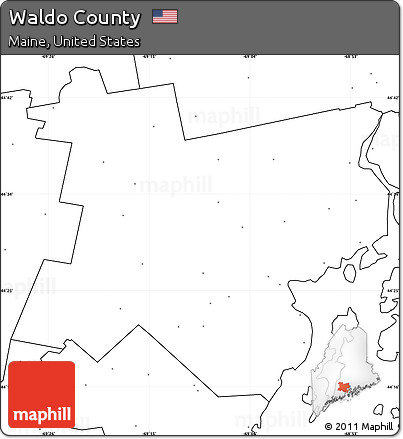 Free Blank Simple Map Of Waldo County No Labels - Us map no labels