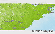 Physical Panoramic Map of York County