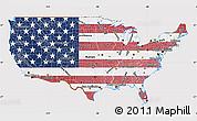 Flag Map of United States