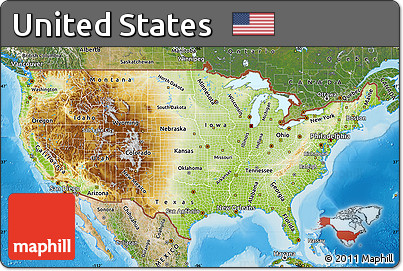 United States Map Satellite.Free Physical Map Of United States Satellite Outside Shaded Relief Sea