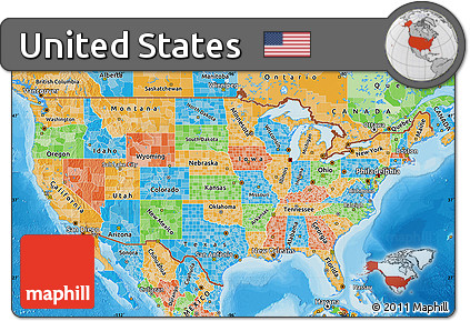 A Political Map Of The United States.Free Political Map Of United States