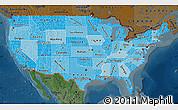 Political Shades Map of United States, darken