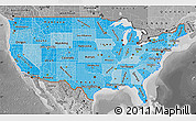 Political Shades Map of United States, desaturated