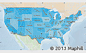 Political Shades Map of United States, lighten