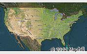 Satellite Map of United States, darken