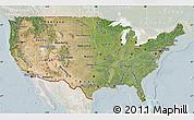 Satellite Map of United States, lighten