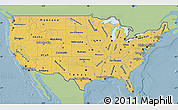 Savanna Style Map of United States, single color outside