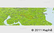 Physical Panoramic Map of ZIP code 20601