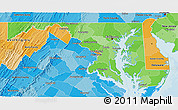Political Shades 3D Map of Maryland