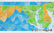 Political Shades Map of Maryland