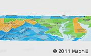 Political Shades Panoramic Map of Maryland