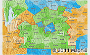 Political Shades 3D Map of ZIP codes starting with 015