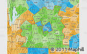 Political Shades Map of ZIP codes starting with 015
