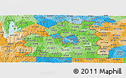 Political Shades Panoramic Map of ZIP codes starting with 015