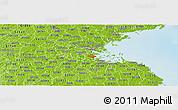 Physical Panoramic Map of ZIP code 02125