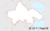 Silver Style Simple Map of ZIP code 02125