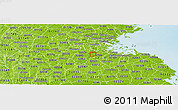 Physical Panoramic Map of ZIP code 02136