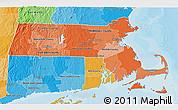 Political Shades 3D Map of Massachusetts