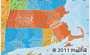 Political Shades Map of Massachusetts