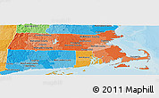 Political Shades Panoramic Map of Massachusetts