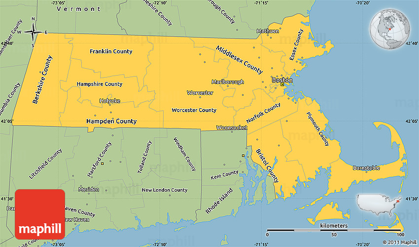 FileMap Of USA MAsvg Wikimedia Commons Map Of The United States - Us map massachusetts highlighted