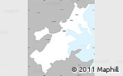 Gray Simple Map of Suffolk County
