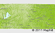 Physical Panoramic Map of Worcester County