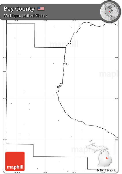 Free Blank Simple Map of Bay County no labels