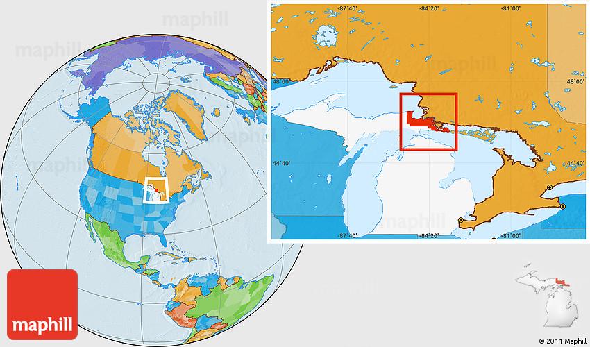 Chippewa Map on