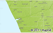 Physical 3D Map of Muskegon County