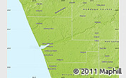 Physical Map of Muskegon County