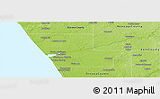 Physical Panoramic Map of Muskegon County