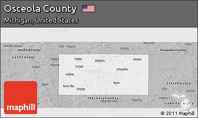Gray Panoramic Map of Osceola County