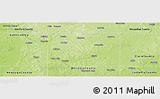 Physical Panoramic Map of Osceola County