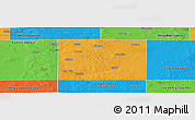 Political Panoramic Map of Osceola County