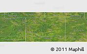Satellite Panoramic Map of Osceola County