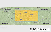 Savanna Style Panoramic Map of Osceola County
